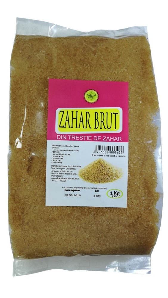 Zahar brut  1000 g - Natural seeds product